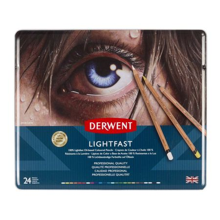 KIT DERWENT LIGHTFAST 24 CORES