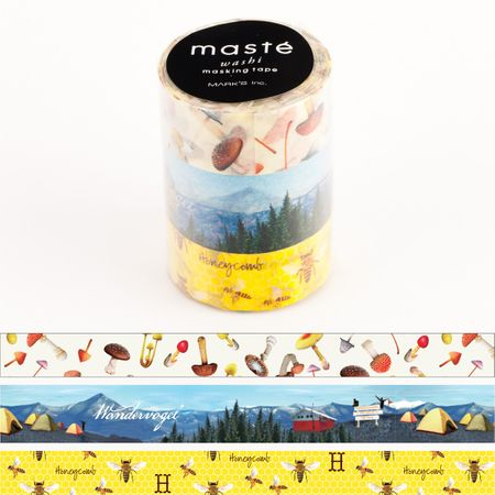 WASHI TAPE MASTÉ NATURE 2 (KIT C/ 3)