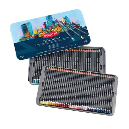 KIT DERWENT PROCOLOUR 72 CORES