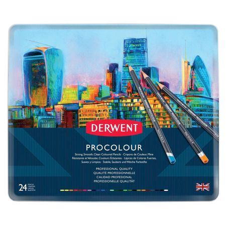 KIT DERWENT PROCOLOUR 24 CORES