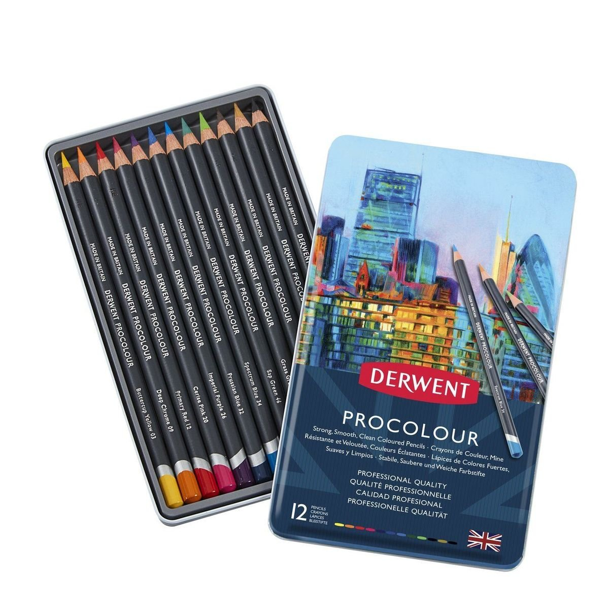KIT DERWENT PROCOLOUR 12 CORES
