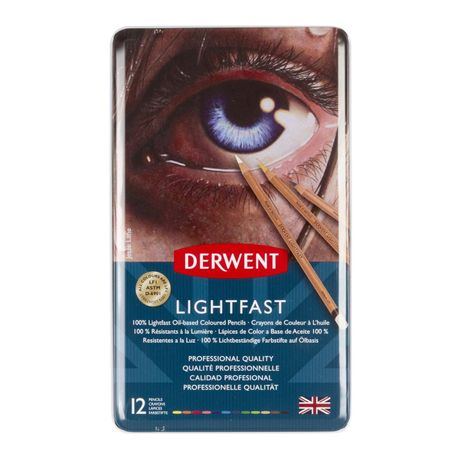 KIT DERWENT LIGHTFAST 12 CORES