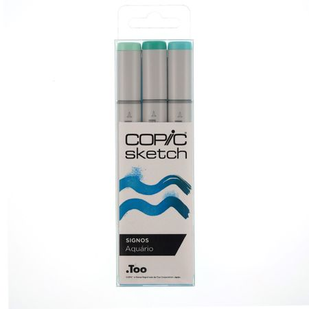 KIT COPIC SKETCH 3 CORES SIGNOS - AQUÁRIO