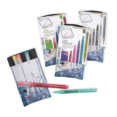 KIT DERWENT GRAPHIK LINE PAINTER 4 CORES