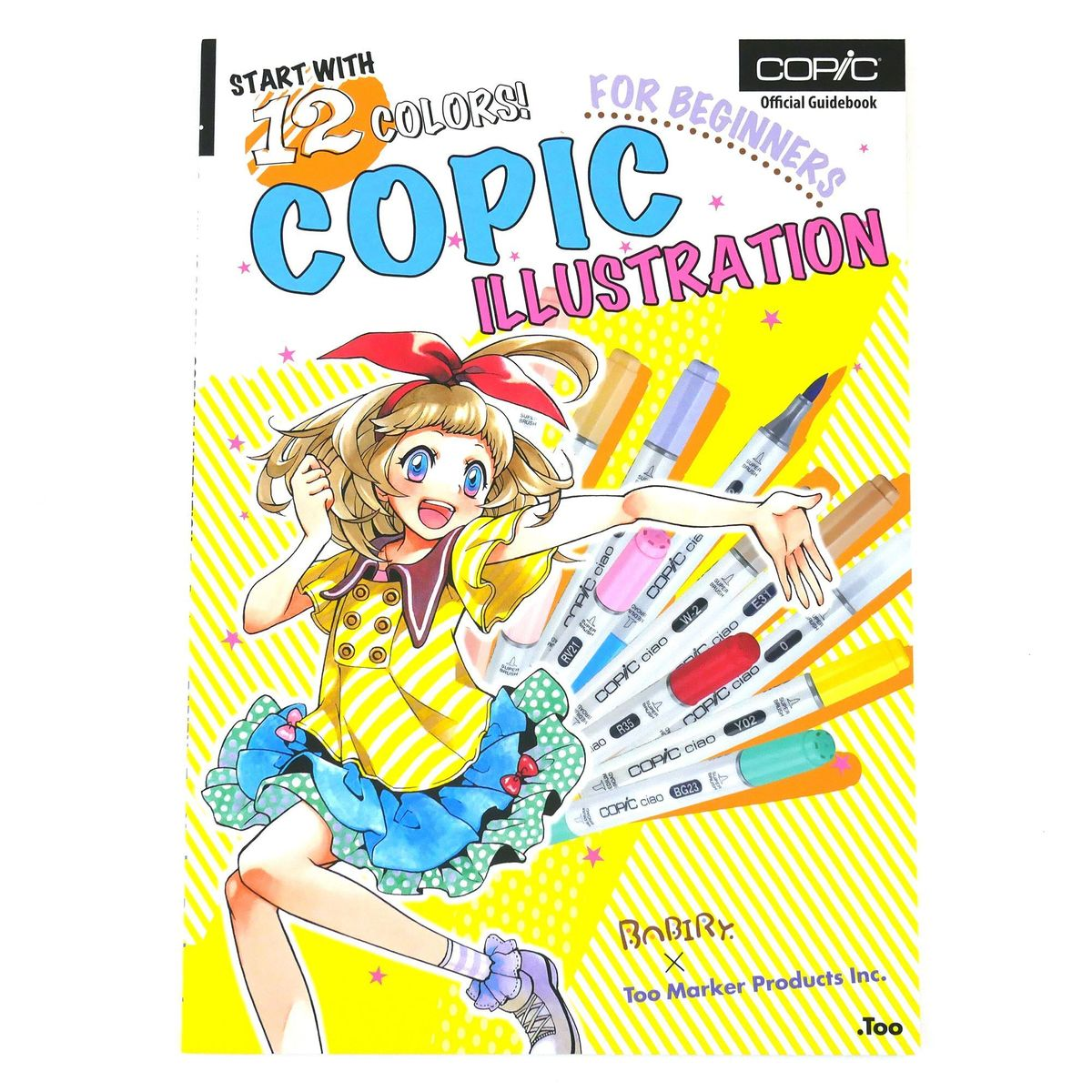 LIVRO COPIC START WITH 12 COLORS