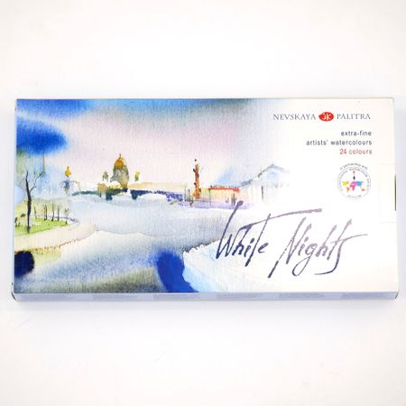 KIT 24 TINTAS AQUARELA WHITE NIGHTS EM PASTILHA 2,5ML