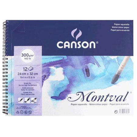 CADERNO CANSON MONTVAL A4 300G/M² 12 FOLHAS
