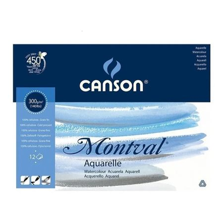 CADERNO CANSON MONTVAL A3 300G/M² 12 FOLHAS