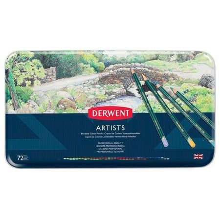 Kit Lápis Derwent Artists C/ 72 Cores