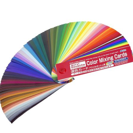 Guia De Mistura Turner Colour Works Color Mixing Card