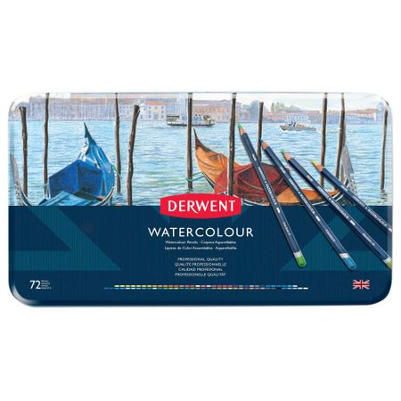 Kit Lápis Derwent Watercolour c/ 72 cores