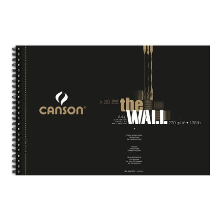 Sketchbook Canson The Wall A4+ 220g/m² 60 páginas