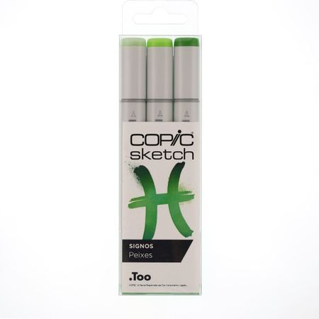 Kit Copic Sketch 3 Cores Signos Peixes