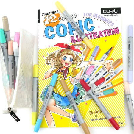 Kit Copic Ciao Iniciante 12 Cores