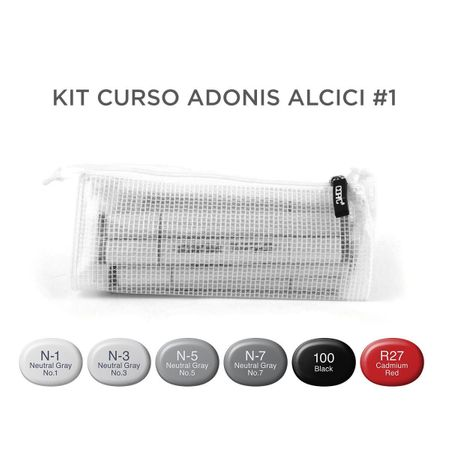 Kit Copic Sketch Curso Adonis Alcici #1 6 Cores