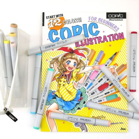 Kit Copic Sketch Iniciante 12 Cores