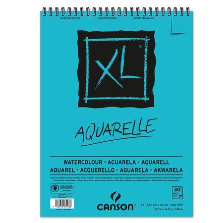 Sketchbook Canson Xl Aquarelle A3 300g/m² 30 Folhas
