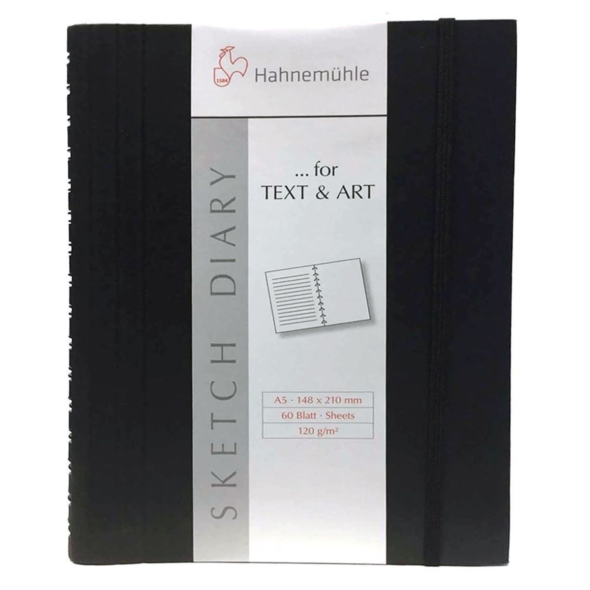 Sketchbook Hahnemühle Sketch Diary A5 120g/m² 60 Folhas