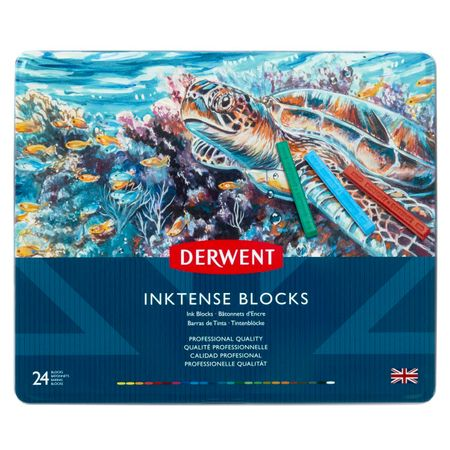 Kit Derwent Inktense Blocks C/ 24 Cores