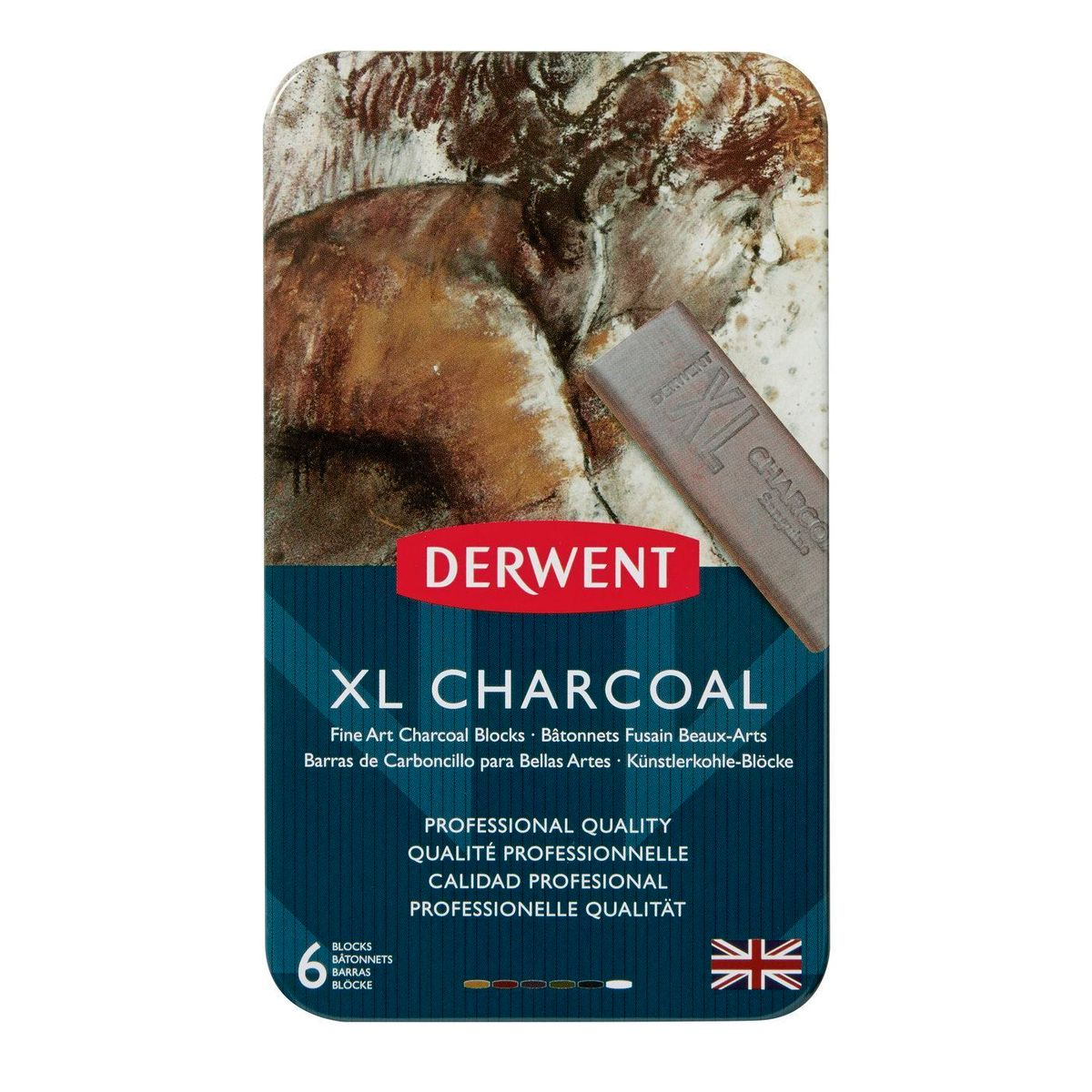 Kit Derwent Xl Charcoal C/ 6 Cores
