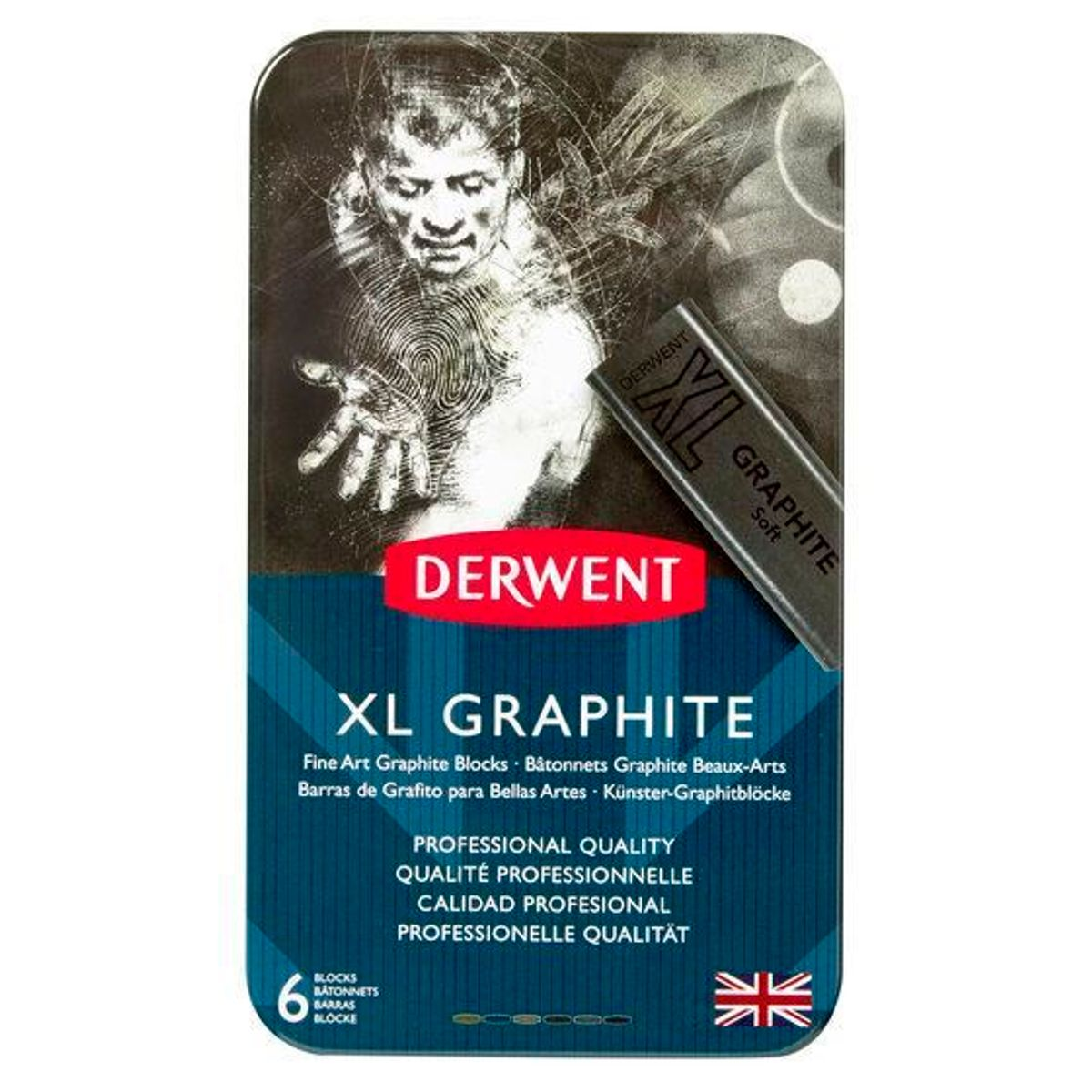 Kit Derwent Xl Graphite C/ 6 Cores