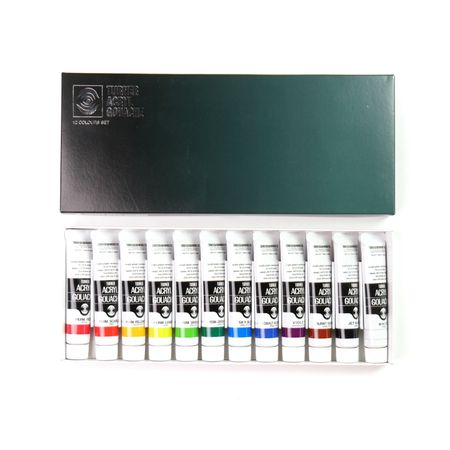 Kit Guache Acrílica Turner Colour Works 12 Cores 20ml
