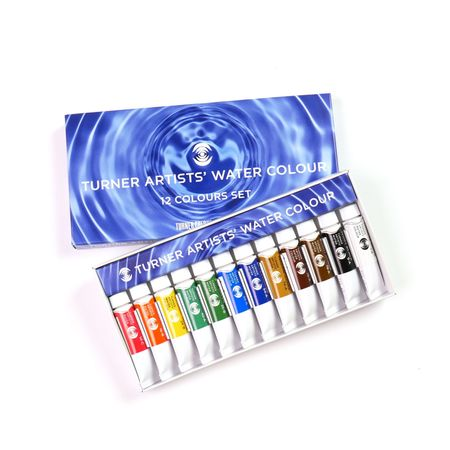 Kit Aquarela Turner Colour Works Artists' Water Colour 12 Cores 5ml