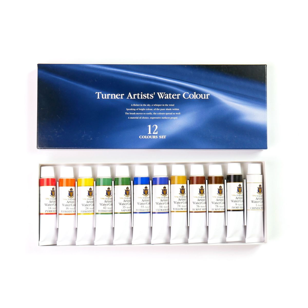 Kit Aquarela Turner Colour Works Artists' Water Colour 12 Cores 15ml