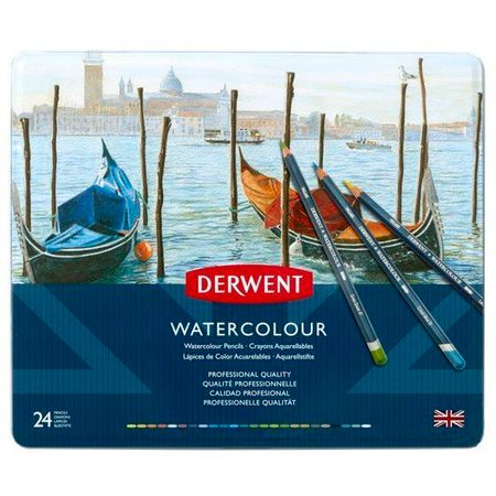 Kit Lápis Derwent Watercolour C/ 24 Cores