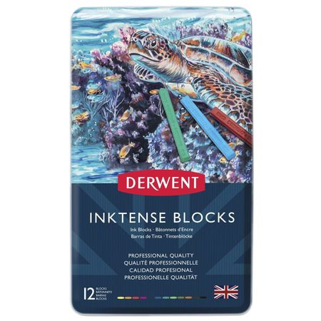 Kit Derwent Inktense Blocks C/ 12 Cores