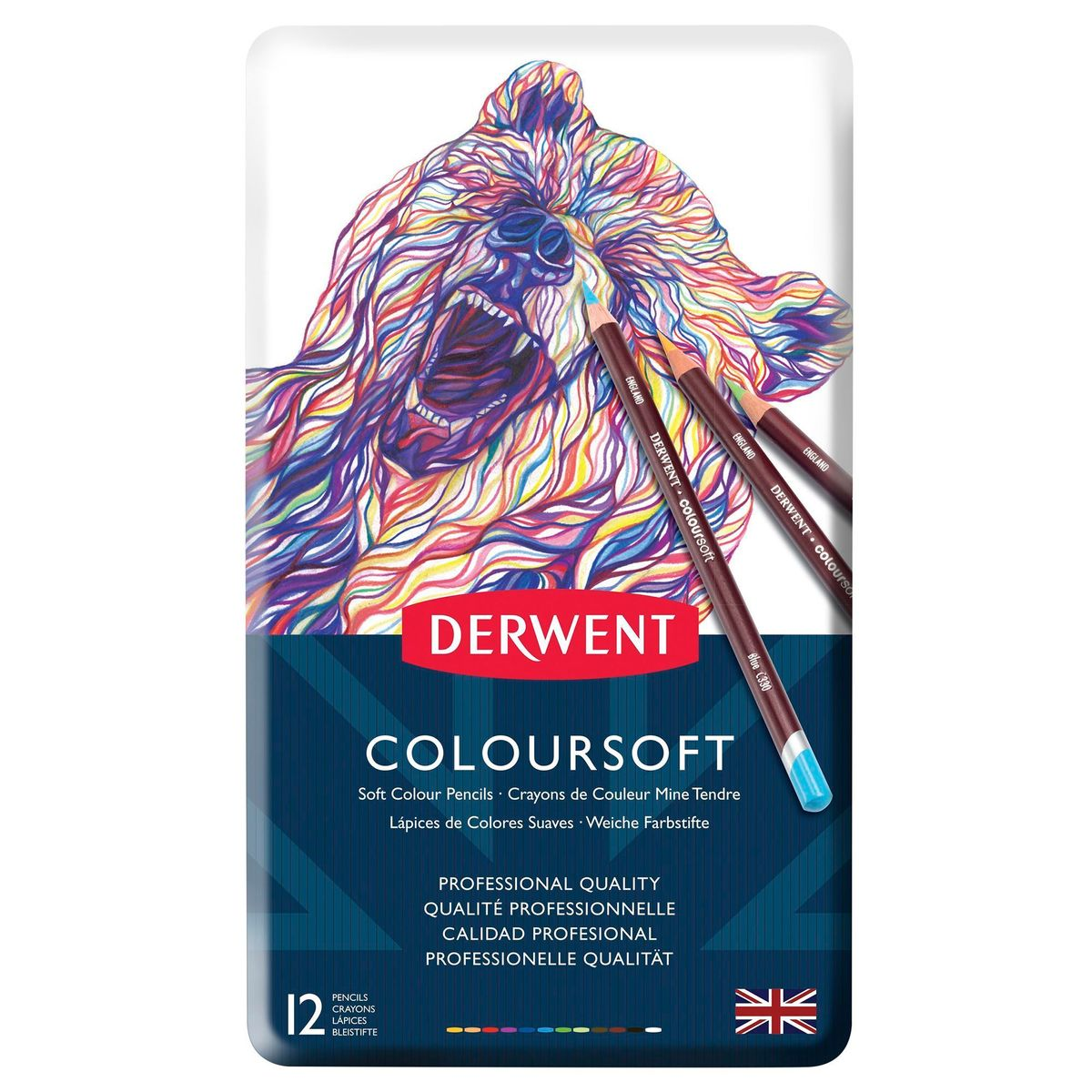 Kit Lápis Derwent Coloursoft C/ 12 Cores