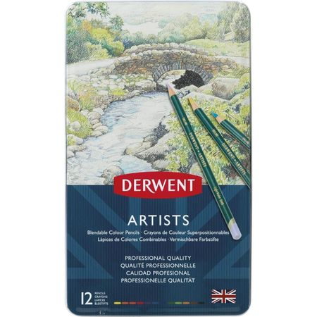 Kit Lápis Derwent Artists C/ 12 Cores