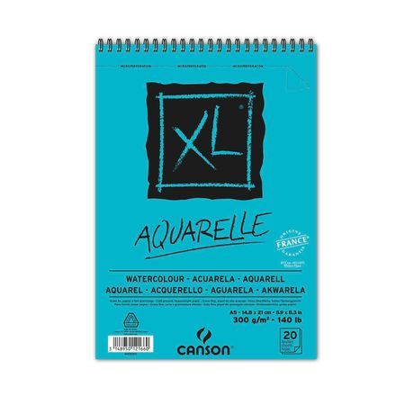 Sketchbook Canson Xl Aquarelle A5 300g/m² 20 Folhas