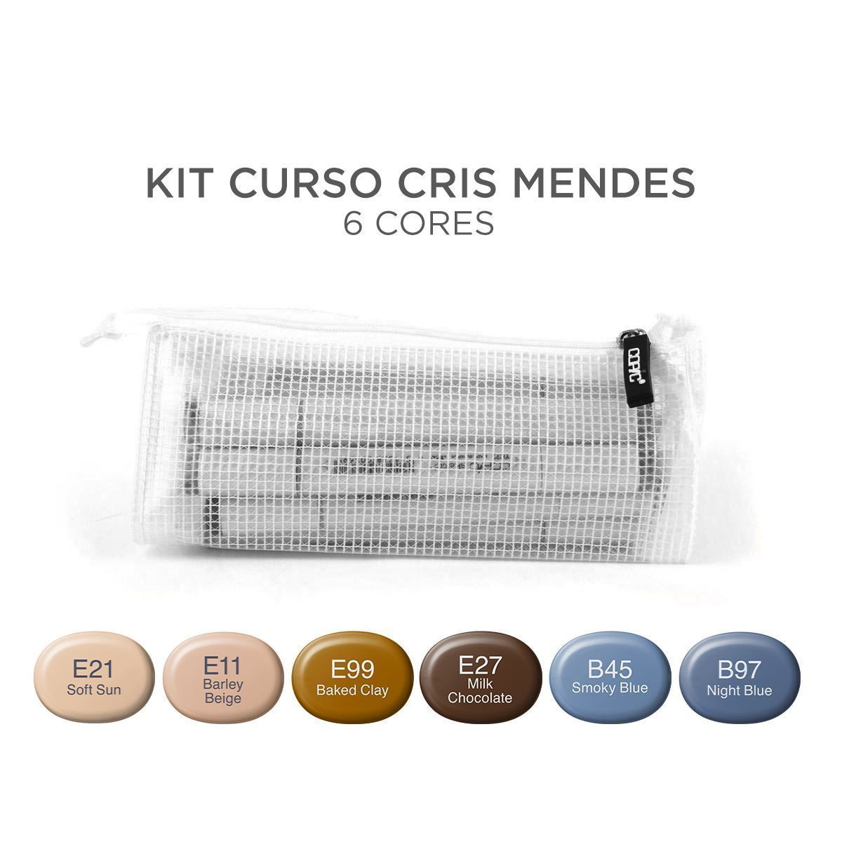 Kit Copic Sketch Curso Cris Mendes 6 Cores