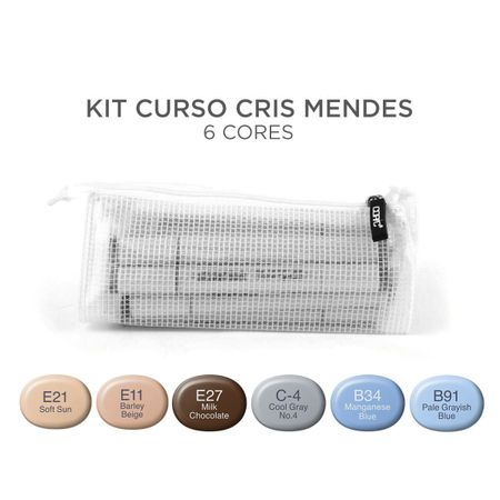 Kit Copic Sketch 6 Cores Cris Mendes