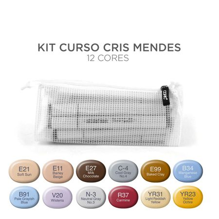 Kit Copic Sketch 12 Cores Cris Mendes