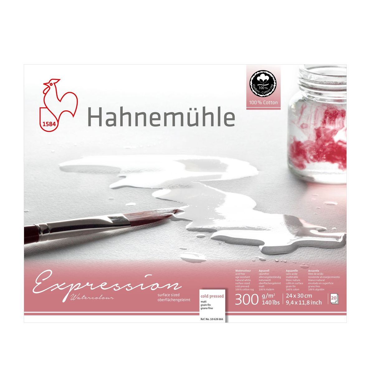 Papel Hahnemühle Expression Watercolour A4 300g/m² 20 Folhas