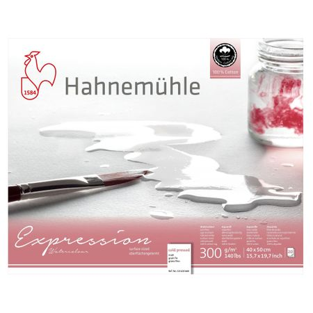Papel Hahnemühle Expression Watercolour A3 300g/m² 20 Folhas