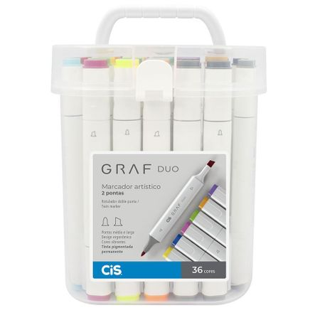 Kit Marcador Cis Graf Duo C/ 36 Cores