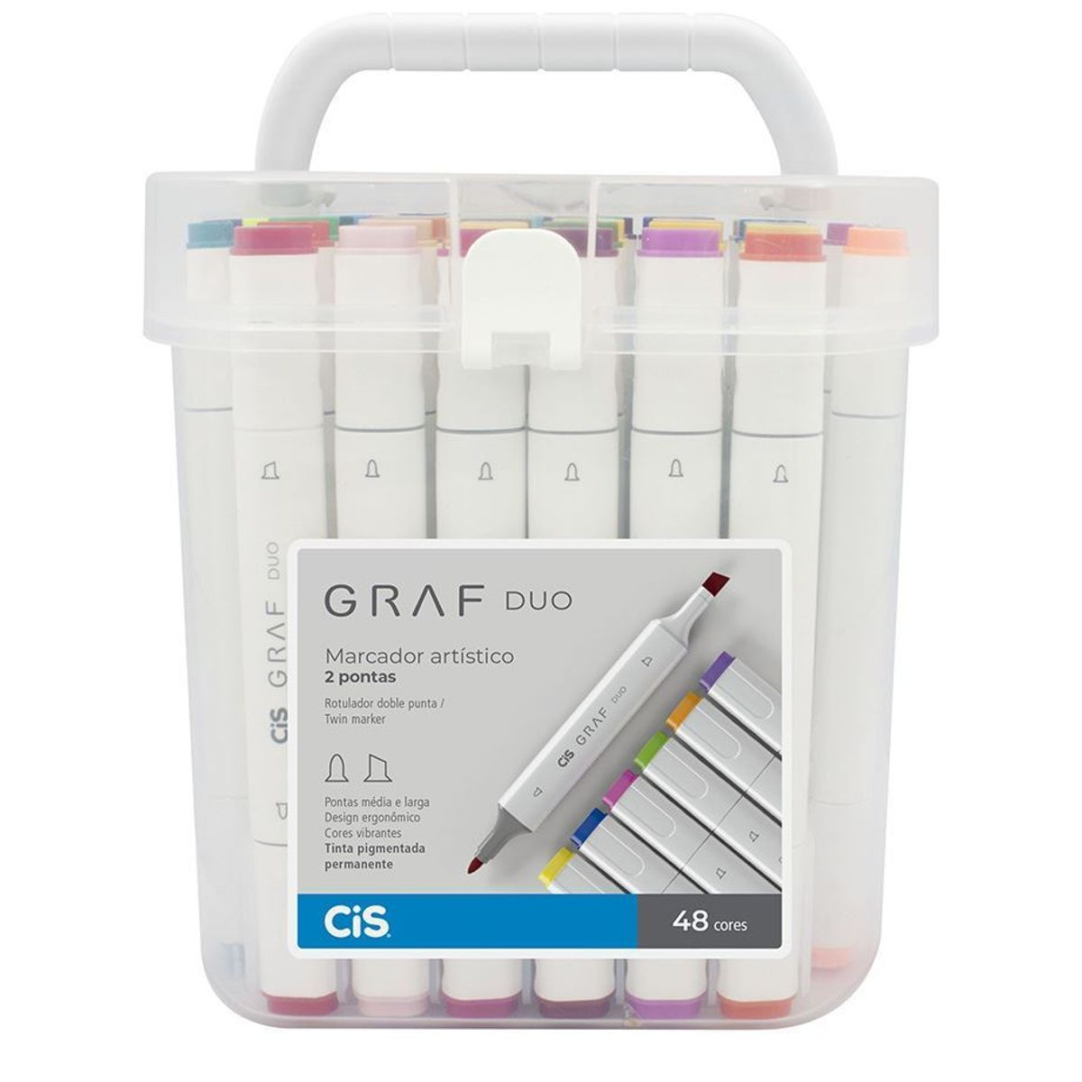 Kit Marcador Cis Graf Duo C/ 48 Cores