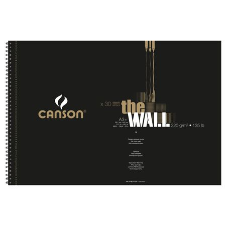 Sketchbook Canson The Wall A3+ 220g/m² 60 Páginas