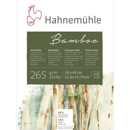 Papel Hahnemühle Bamboo Mixed Media A3 256g/m² 25 Folhas