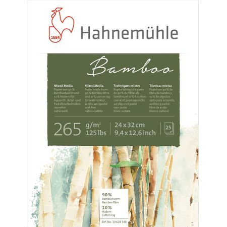 Papel Hahnemühle Bamboo Mixed Media (24x32cm) 256g/m² 10 Folhas