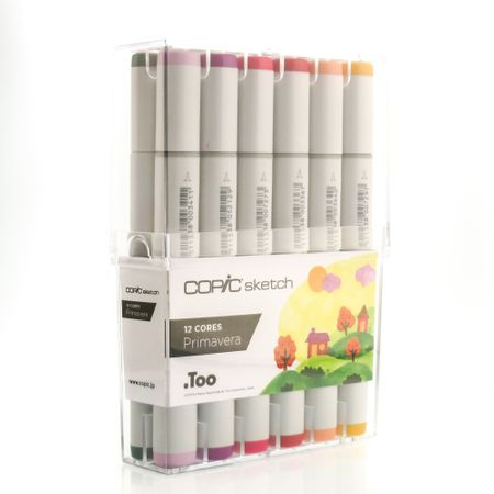KIT COPIC SKETCH 12 CORES 4 ESTAÇÕES - PRIMAVERA