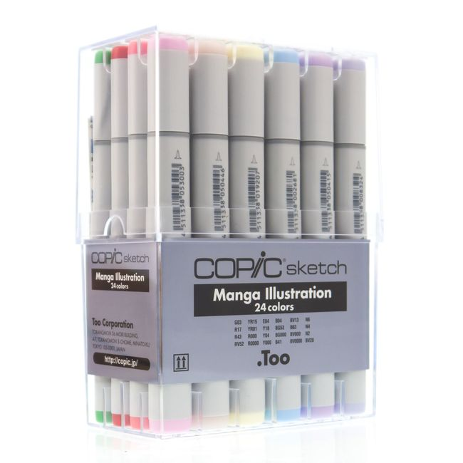 Kit Copic Sketch 24 Cores Mangá