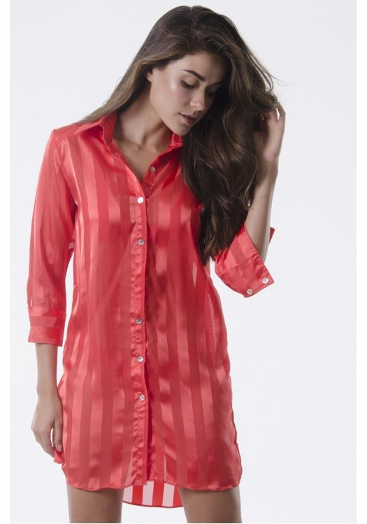 CHEMISE LISTRAS CORAL