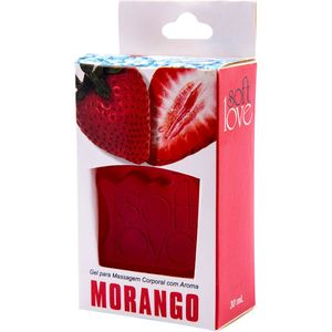 PACK 10 GÉIS ICE MORANGO 30ML SOFT LOVE