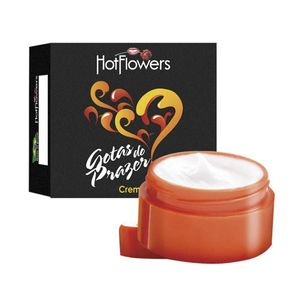 PACK 10 UNIDADES GOTAS DO PRAZER CREME POTE 4G HOT FLOWERS