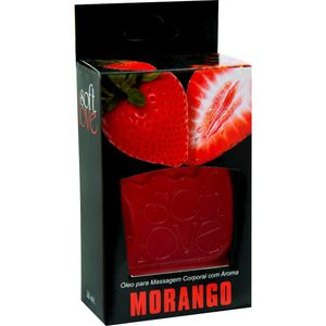 PACK 10 GÉIS HOT MORANGO 30ML SOFT LOVE
