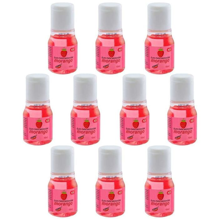 PACK 10 UNIDADES GEL ICE MORANGO 15ML CHILLIES
